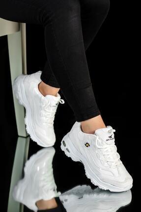 Muggo Kadın Beyaz Sneaker Ayakkabı Svt20