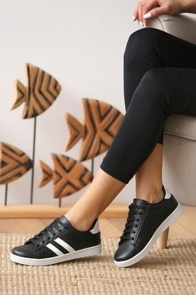 Pembe Potin Kadın Siyah Beyaz Casual Ayakkabı