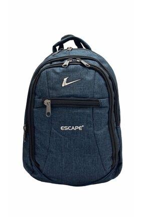 Escape  Unisex Mavi Laptop Bölmeli Seyahat Spor ve Okul Sırt Çantası