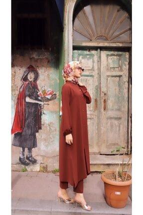Eflatun Kadın Kiremit Elbise