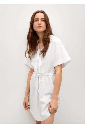 Mango Kadın Beyaz Elbise
