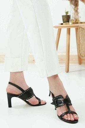 Mio Gusto Kadın Julie Siyah Kısa Topuklu Ayakkabı