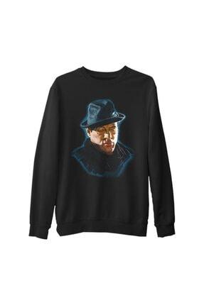 Lord Erkek Siyah Rocky Balboa Kalın Sweatshirt