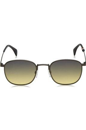 Tommy Hilfiger Unisex Sarı 1469/s R80je52 Degrade Lens Uv400 Metal Sap Güneş Gözlüğü