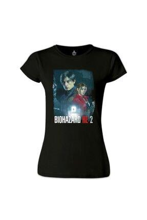 Lord Kadın Siyah Resident Evil - Biohazard Tshirt