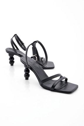 Marjin Kadın Siyah Topuklu Sandalet Bople