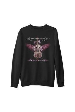 Lord Unisex Siyah Apocalyptica Worlds Collide Kalın Sweatshirt