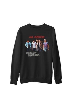 Lord Unisex Siyah One Direction Midnight Memories Kalın Sweatshirt