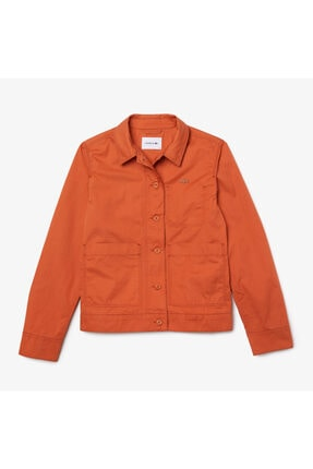 Lacoste Kadın Gömlek Yaka Turuncu Ceket BF0231