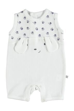 Bibaby Unisex Bebek Cute Paws Şort Tulum 60340
