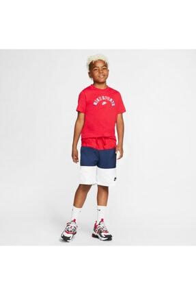 Nike Unisex Çocuk Nike Sportswear (boys') Çocuk Şort - Kırmızı-lacivert-beyaz