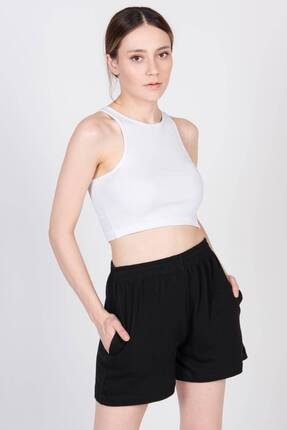 Addax Kadın Beyaz Kolsuz Kısa Bluz A20-129 - H7 ADX-0000022409