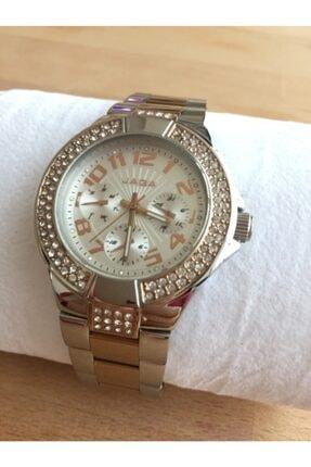 JAGA Kadın Çelik Svarowski Taş Işlemeli  Saat