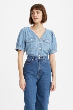 Levi's Bryn Shirt Loosey Mavi Kadın Gömlek