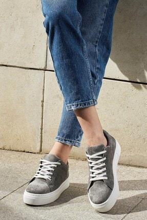 Mio Gusto Cameron Gri Süet Sneaker