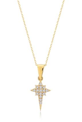 Gelin Pırlanta Gelin Diamond 14 Ayar Altın Kutup Yıldızı Kolye