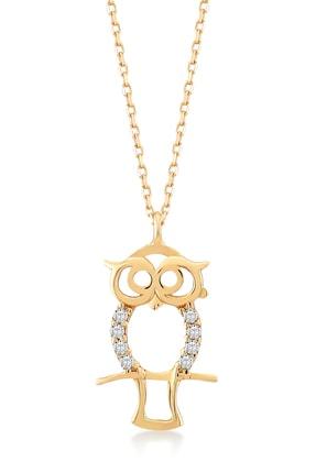 Gelin Pırlanta Gelin Diamond 14 Ayar Altın Baykuş Kolye