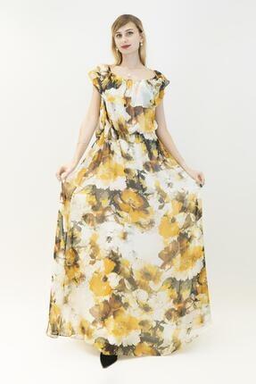 Gizia Kadın Sarı Elbise M14yep1371