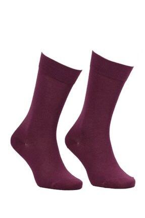 Jiber Bordo Modal Çorap 5100 |