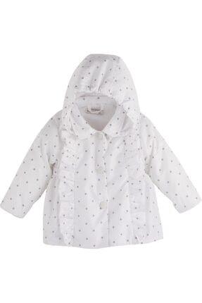 Mamino Kız Çocuk Beyaz Yağmurluk 10195