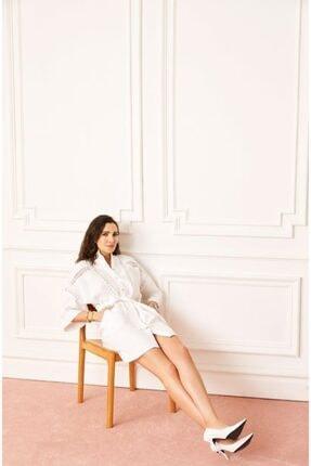 Love My Body Kadın Beyaz Gömlek Elbise 58941 / Moda Tutkusu
