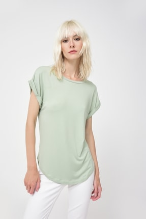 Cool & Sexy Kadın Mint Basic T-Shirt Yİ1847