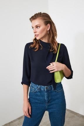 TrendyolMilla Lacivert Bağlamalı Bluz TWOAW20BZ0674