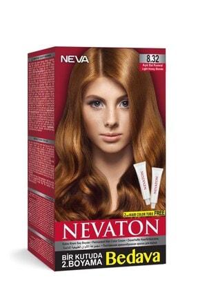 Neva Ton Saç Boyası Seti 8.32 Bal Kumral