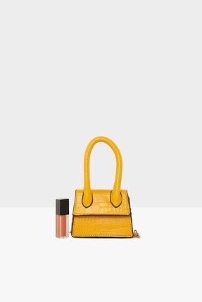 Bagmori Sarı Kadın Tek Saplı Mini Tasarım Çanta M000004830