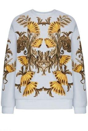 Faberlic Kadın Gri Uzun Kol Desenli Sweatshirt