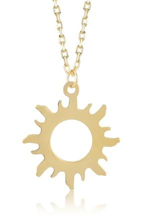 Gelin Pırlanta Diamond 14 Ayar Altın Güneş Kolye