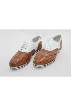 İnci Deri Kahverengi Ayakkabı