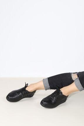 Fast Step Hakiki Deri Siyah Kadın Casual Ayakkabı 863za538