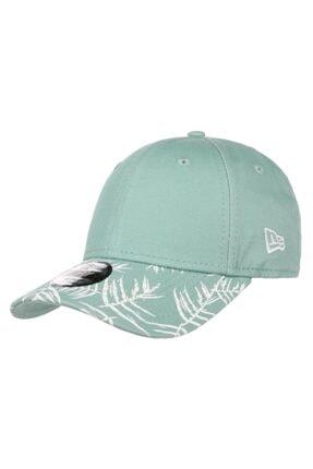 New Era Kadın Yeşil Kıds Palm Prınt 9fo Youth Şapka