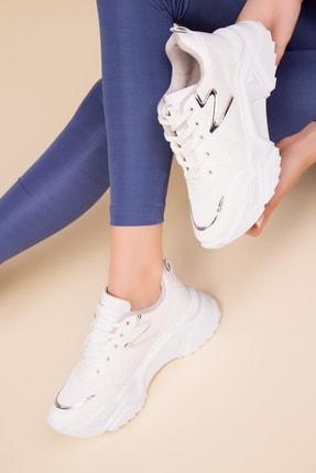 SOHO Beyaz-Platın Kadın Sneaker 15204