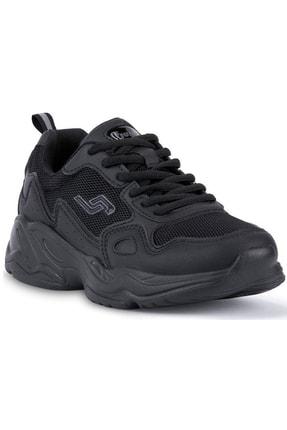 Jump Unisex Siyah Ortopedik Kalın Taban Günlük Spor Ayakkabı 24736