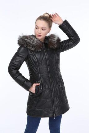 Vira Kadın Deri Kürk Ceket Zg7001 Siyah VZG7001000012