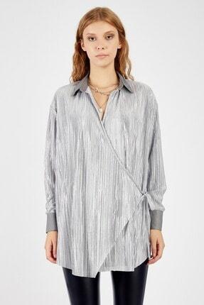 Manche Kadın Gümüş Bluz