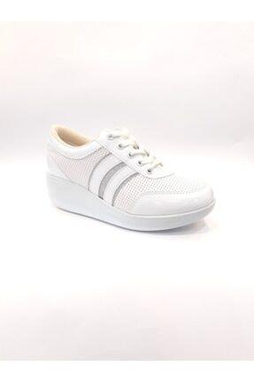 Dunlop Kadın Beyaz Dolgu Taban Günlük Yürüyüş Ayakkabısı
