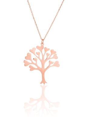Azuris Silver Azuris 925 Ayar Alk1174 Gümüş Kalpli Hayat Ağacı Kolye