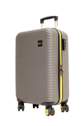 YOUNG Antrasit Abs 8 Tekerlekli Kabin Boy Valiz  Bavul 5203-3ant