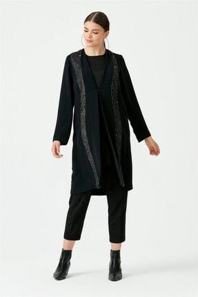 Seçil Scl Pul Detaylı Iç Bluzlu Tunik 4816 Siyah