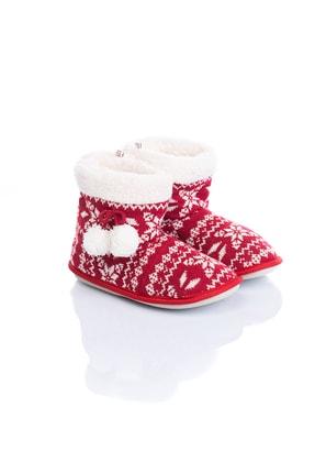 Twigy Tw Winter Kırmızı Kadın Ev Botu