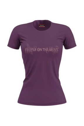 Kappa Kadın Mor Baskılı T-Shirt