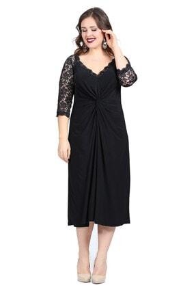 ANGELINO Kadın Siyah Abiye Elbise KL8755