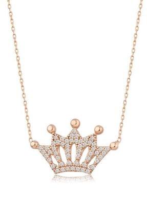 Mai Silver Kadın Rose 925 Gümüş Kral Tacı Kolye