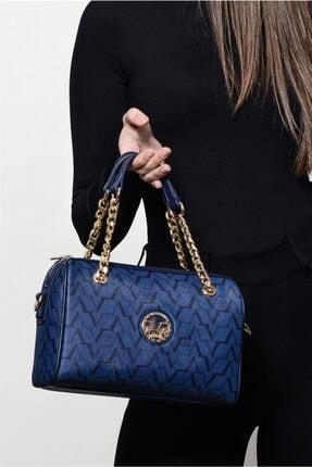 Versace Kadın Lacivert El Çantası 5109