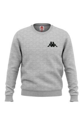 Kappa 304n7y0 Erkek Sweatshirt Bıbıst Gri Melanj L