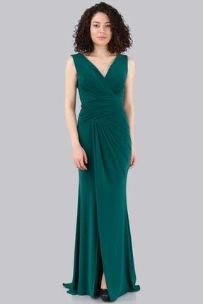 Kadın Yeşil Abiye & Mezuniyet Elbisesi Hc 7603 18Y176K9K00115-ZÜMRÜT