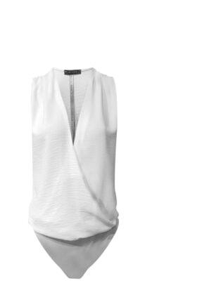 RİVUS Kadın Ekru Anvelop Kesim Alttan Çıtçıtlı Bluz